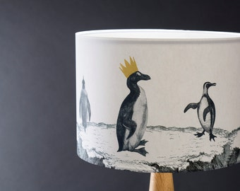 Penguin Parade - 30cm Hand Gilded Lampshade