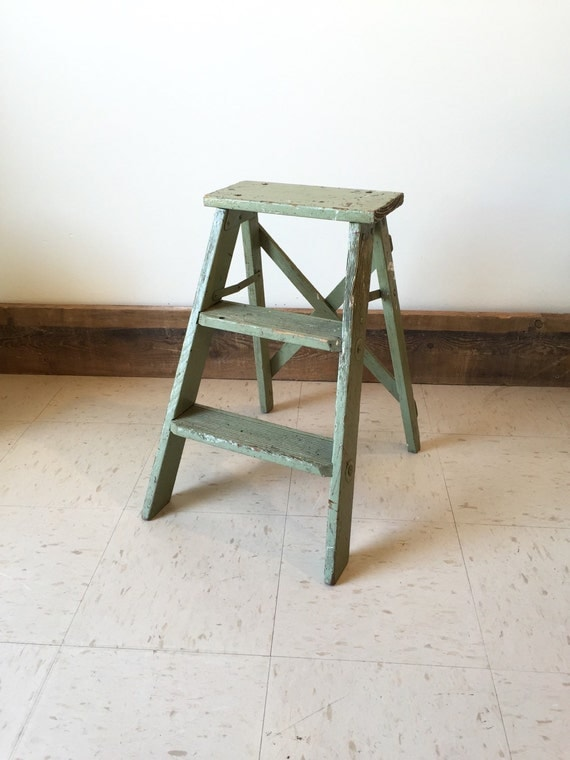 Escabeau Bois Vintage : Vintage Wood Step Ladder