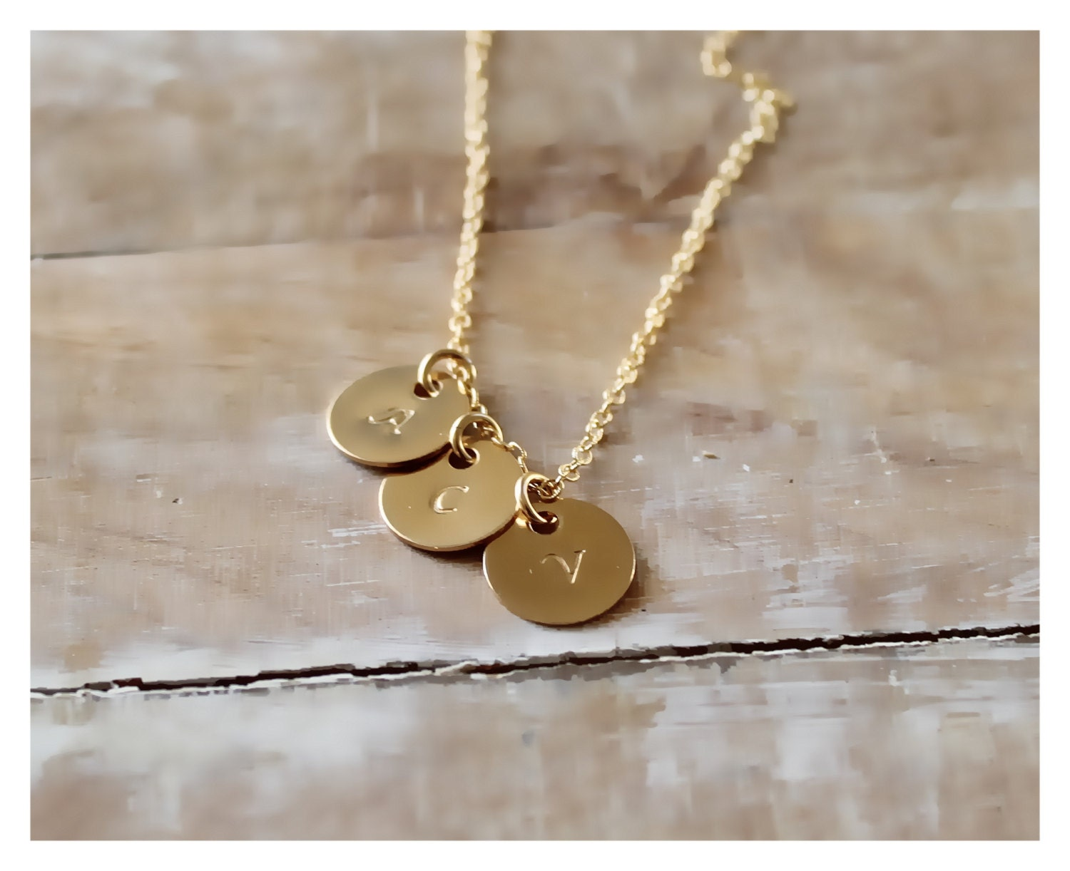 personalized gold disc necklace initial gold disc. Black Bedroom Furniture Sets. Home Design Ideas