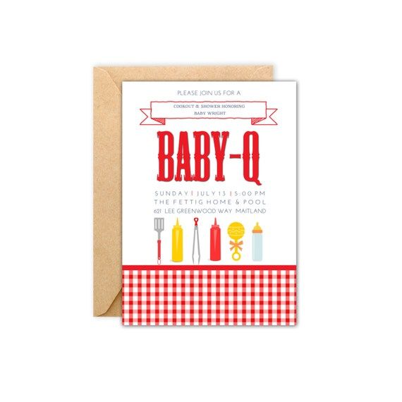 wright baby q baby shower invitation 5x7 digital file
