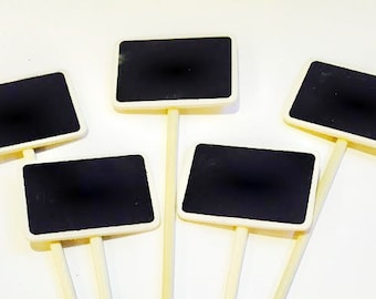 High Quality Set Of 5   Garden Stakes   Herb Sign   Plant Marker   Cake Topper