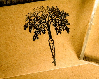 "Carrot Stamp - 2""x2"" - Southern Rubber Stamp"