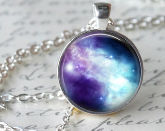 NEBULA Necklace Pendant Hipster Galaxy Universe Casseopeia Jewerly Orion Geekery Necklace Astronomy necklace Casseopeia Necklace