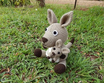 Amigurumi Crochet Pattern - Kangaroo Pattern No.46