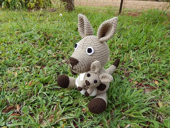 Amigurumi Kangaroo : Amigurumi Crochet Pattern Kangaroo Pattern No.46