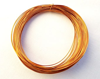 Gold Copper Wire, Light Gold Wire, Wire Wrapping, Gold Craft Wire, Jewelry Wire, 15 Meter Coil, Colored Copper Wire, 0.5mm Wire, UK Seller