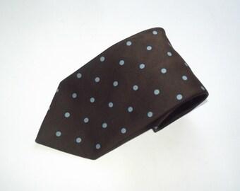 Vintage 1970s  LOUIS FERAUD Polka Dots Necktie