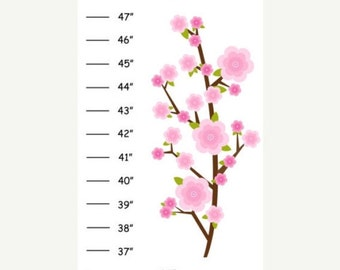 Personalized Blossom Branches Canvas Growth Chart