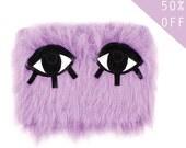 Parma Violet Monster Clutch Bag