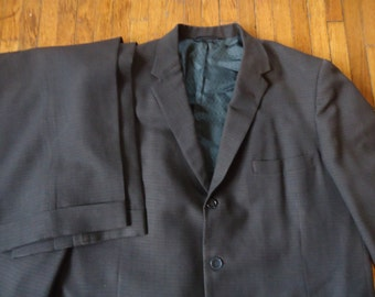 Vintage 50s Penney's Brown Two Piece Suit 42-44
