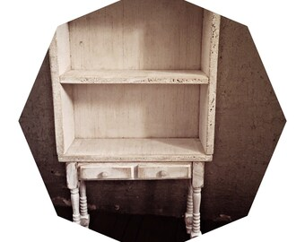 Vintage style furniture bookcase,cupboard for dolls,Blythe,dolls house,hand made,shabby chic,Monster High,ooak roombox doll house