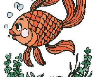 Just Keep Swimming Cartoon Cross Stitch Pattern PDF: HARD COPY upon request