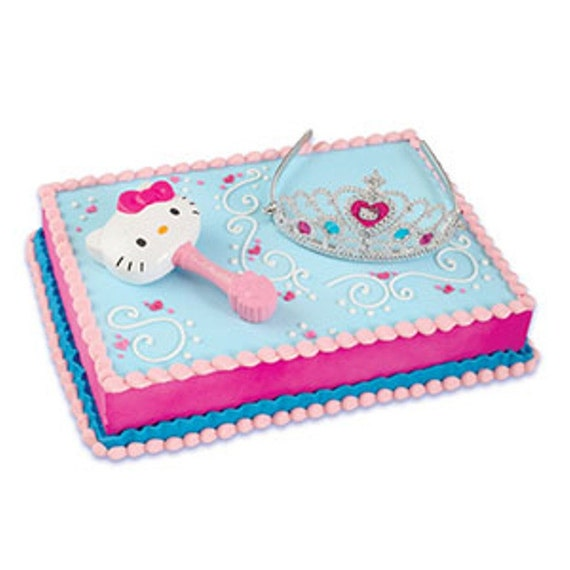 Hello Kitty Princess Tiara and Wand Cake Topper