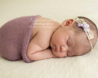 "Newborn Photography Backdrop Fabric - ON SALE - ""Lenny"" Backdrop - Textured Knit - Photo Prop - Backdrop Fabric"