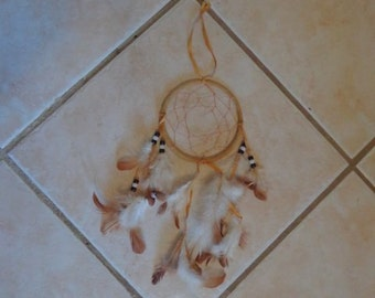 Handmade Dream Catcher with Black and White Beads