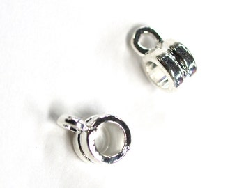 5 pcs x Tarnish Resistant Silver Plated Charm Hanger