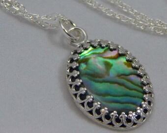 Paua Shell Necklace. Paua Shell. Paua Shell Pendant. Abalone