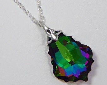 Swarovski Crystal Electra Baroque Pendant. Swarovski Crystal Necklace. Swarovski Crystal