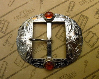 """No.1003J 1930's Reproduction Buckle 1 1/2"""" for Studded Jeweled Western Belt"""