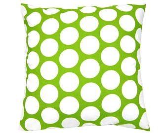 Pillowcase points green and white DANDIE 40 x 40 cm