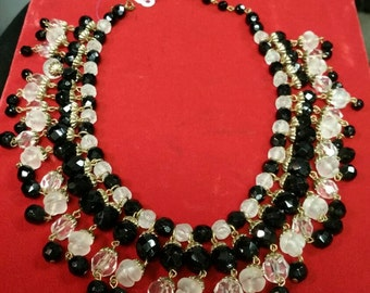 Vintage beaded necklace choker