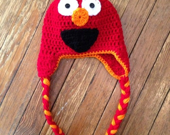 Elmo hat (with or without mouth options)