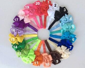 10%Off/ Free Ship/ 15 baby headband/ hair bows/ toddler headband bow/ headband bow/ infant headband bow/ newborn headband/ elastic headband