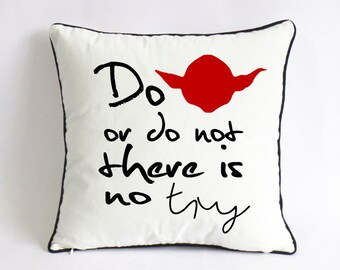 star war yoda pillow-master yoda throw pillow cover-boyfriend gift-valentine gift for him-university dorm decor-do or do not there is no try