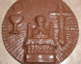 Communion Boy Plaque  Chocolate Mold