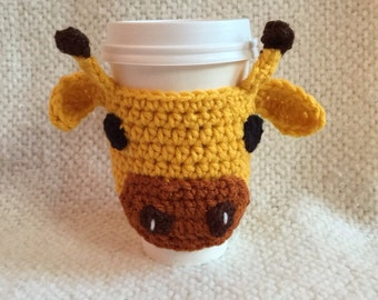 Giraffe Coffee Cozy - Giraffe Animal Coffee Cup Warmer - Choose Your Colors