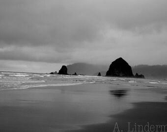 Haystack Rock, Cannon Beach, Oregon Coast, Pacific Northwest, Goonies, Landscape, Seascape