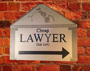 Hand-Painted Vintage-Style Lawyer Trade Sign