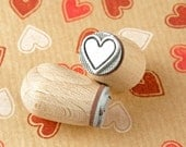 Gingerbread heart - mini stamp Ø 1,4 cm