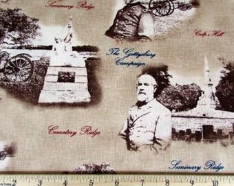 Per Yard, Gettysburg Fabric Tan
