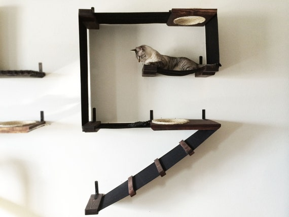 Vertical Cat Fort Cat Hammock Play Structure Free US
