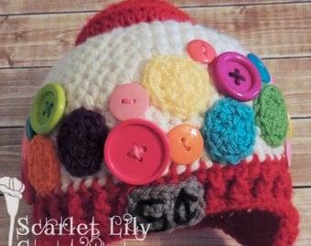 Gumball Machine crochet hat (Baby)