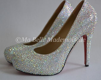 Crystal Wedding Shoes, Crystal Bridal Shoes, Bling Shoes,