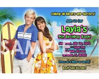 Teen Beach Movie Invitation - Printable Teen Beach Birthday Party Movie Invite - Personalized Custom Digital Photo Card 4x6 or 5x7