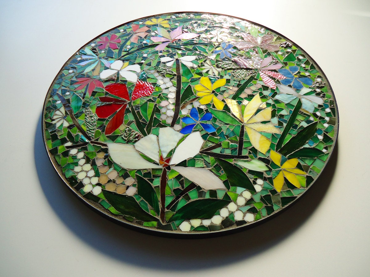 On Sale Floral Mosaic Art Wall Decor Or Table Top 24