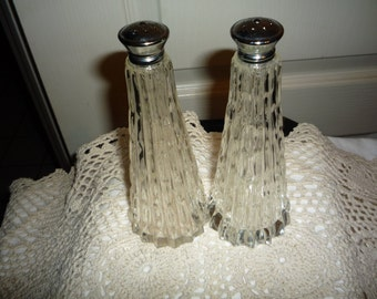 Tall Glass Salt and Pepper Shakers