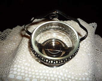 Silver Plated Glass Server