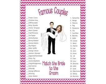 Bridal Shower Game Wedding Couples
