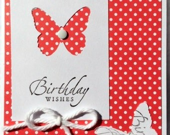 Butterfly Birthday Handmade Card-Assorted colors