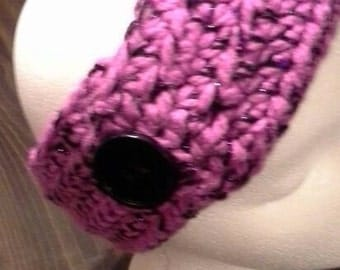 Crocheted Headband with Button