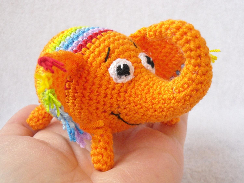 Amigurumi Zoo Animals : Amigurumi elephant zoo animal plush soft stuffed