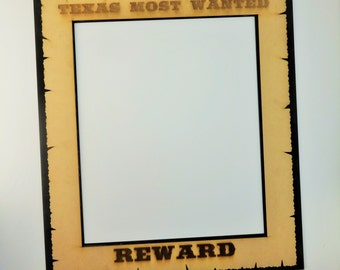 western photo booth props cowboy photo booth props large wanted sign 20 x 23 inches cowboy - Most Wanted Picture Frame