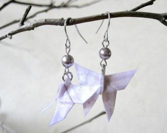 Origami Earrings - Paper Earrings - Butterfly Earrings - Origami Jewelry - Paper Jewelry - Valentine's gift for her