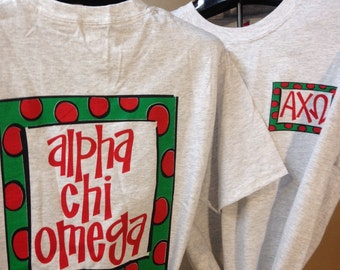 Alpha Chi Omega T-shirt {size S}