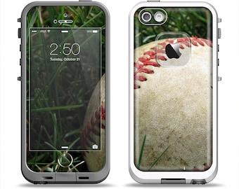 The Grunge Worn Baseball Apple iPhone LifeProof Case Skin Set