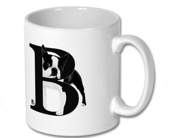 B for Boston Dog Mug